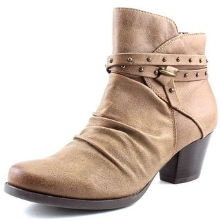 Baretraps Rainly Women Round Toe Canvas Brown Ankle Boot