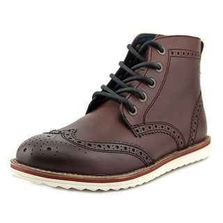 Crevo Boardwalk Men Wingtip Toe Leather Burgundy Boot