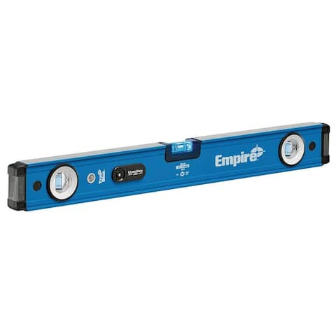 "Empire EM95-24 TRUE BLUE UltraView LED Magnetic Box Level, 24"""