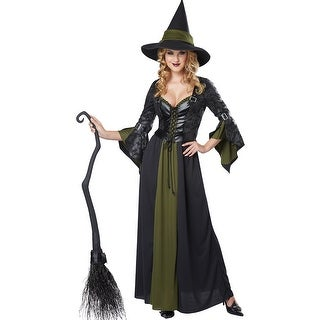 Classic Witch Costume, Green Witch Costume
