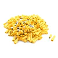 Unique Bargains 200Pcs AWG 12-10 Wire Insulated Male Female Spade Crimp Terminals Splice Yellow