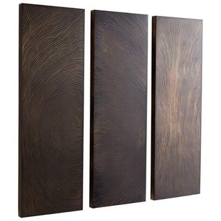 "Cyan Design 08714 Topango 48"" Tall Wood Wall Art - Set of 3 Panels"
