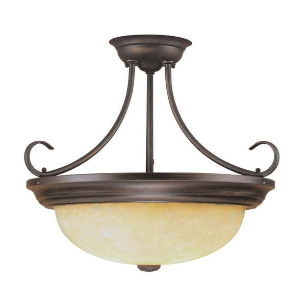 Millennium Lighting 5205 3 Light Semi-Flush Ceiling Fixture