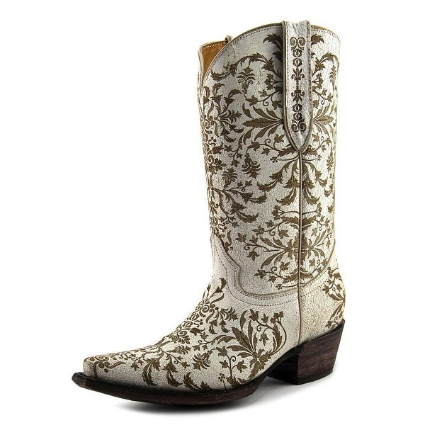 Very Volatile Taraji Women Pointed Toe Leather White Western Boot