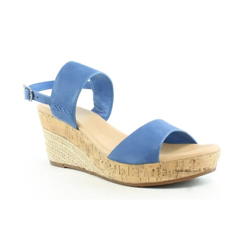 UGG Womens Elena Azul Ankle Strap Heels Size 12