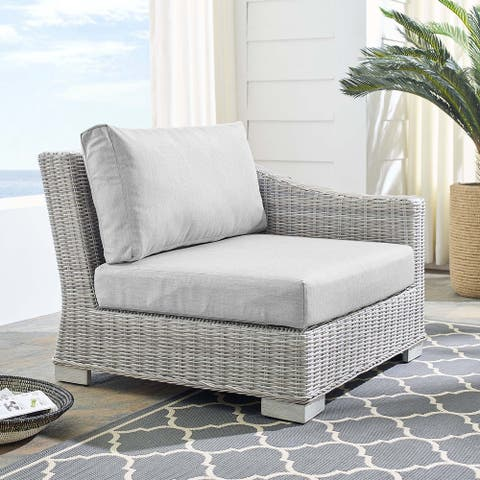 Conway Outdoor Patio Wicker Rattan Right-Arm Chair