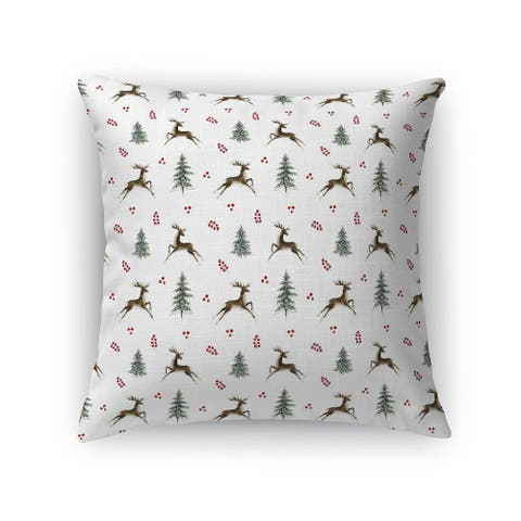LEAPING REINDEER Accent Pillow By Terri Ellis