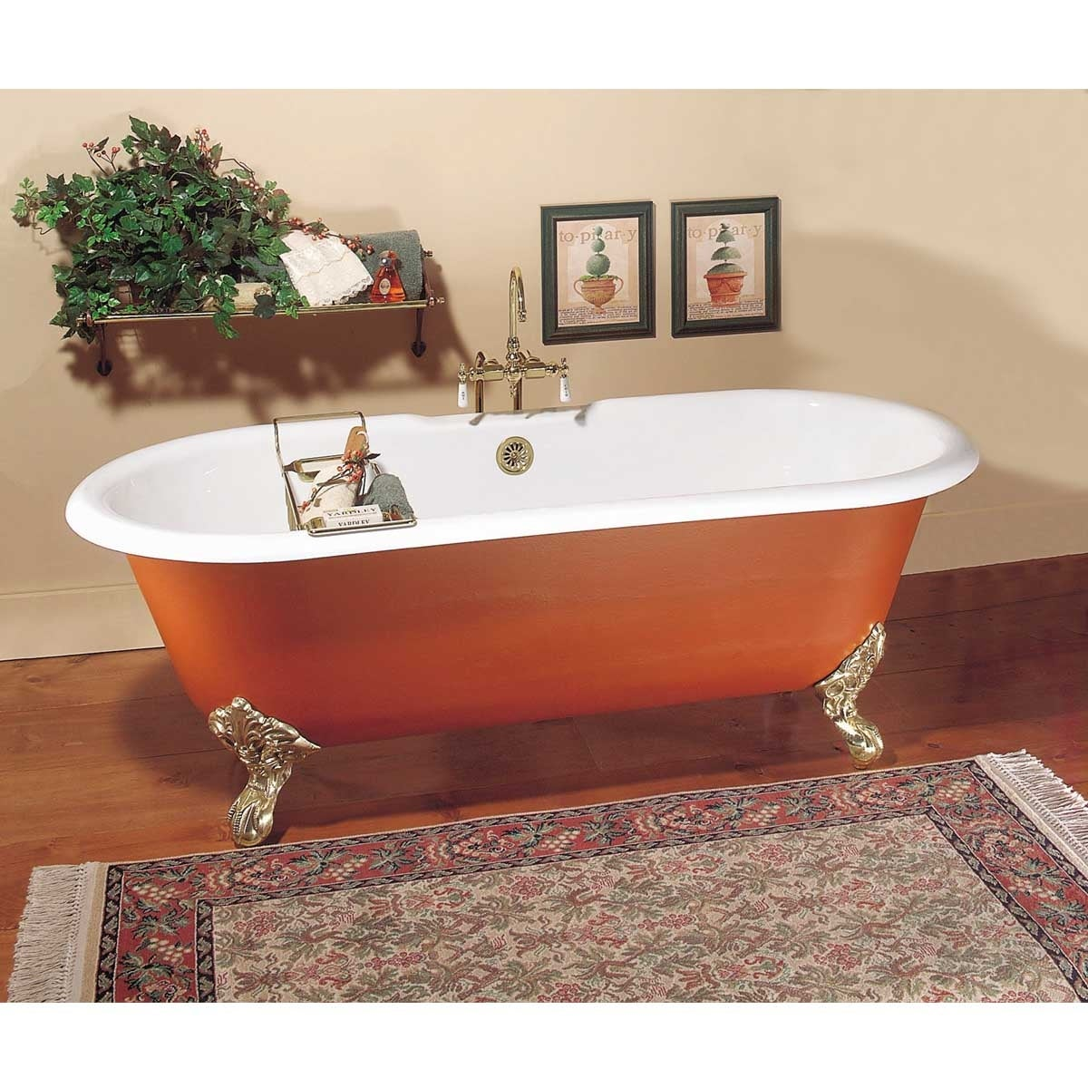 Picture of: Shop Primed Black Cast Iron Clawfoot Tub Feet Not Included Fits Two Overstock 13300554
