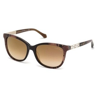 Roberto Cavalli Eyewear Dark Brown Frame Brown Mirror Sunglasses