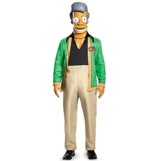 Disguise Apu Kwik E Mart Deluxe Adult Costume - Green