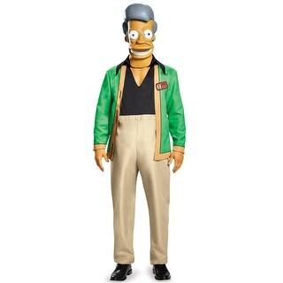 Disguise Apu Kwik E Mart Deluxe Adult Costume - Green