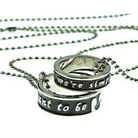Disney The Nightmare Before Christmas Jack Sally Necklace Ring Set Meant To Be