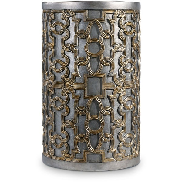"""Hooker Furniture 638-50331-CHP 15"""" Wide Hardwood Accent Table from the Melange - Gia Collection - Silver Gold"""