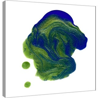 """PTM Images 9-101054  PTM Canvas Collection 12"""" x 12"""" - """"Polished in Green and Blue"""" Giclee Abstract Art Print on Canvas"""