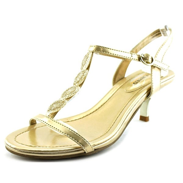Unlisted Kenneth Cole Kinda Happy Women Open Toe Synthetic Gold Sandals