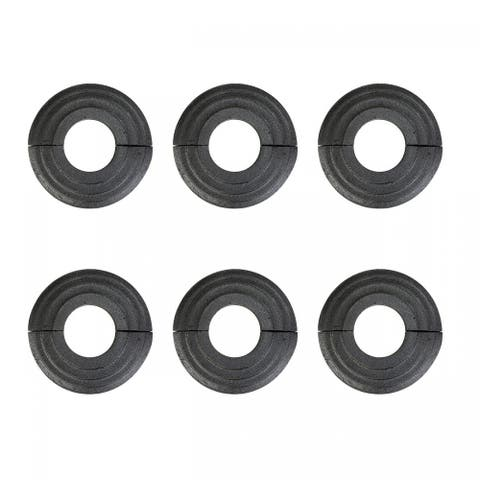 Aluminum Escutcheon Radiator Flange Black 1 1/4'' ID Set of 6
