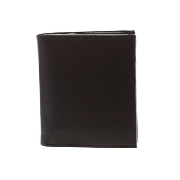 Paul & Taylor Black Leather Big Hipster Bifold Wallet