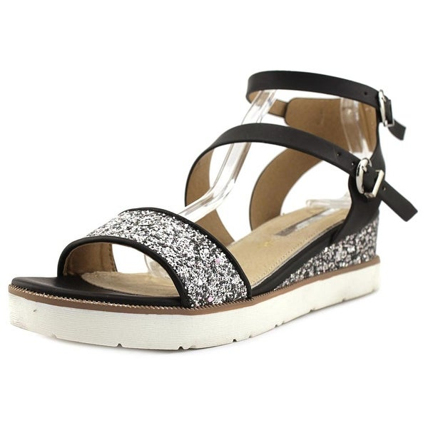 Maria Mare 66721 Women Black/Glitter Silver Sandals