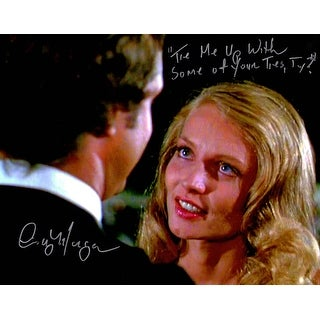 Cindy Morgan Signed Caddyshack 11x14 Photo w/Tie Me Up With Some Of Your Ties, Ty?