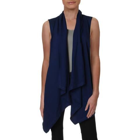 Lauren Ralph Lauren Womens Cardigan Top Cotton Sleeveless