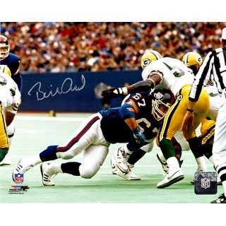 Billy Ard New York Giants Blocking Action 8x10 Photo In Silver