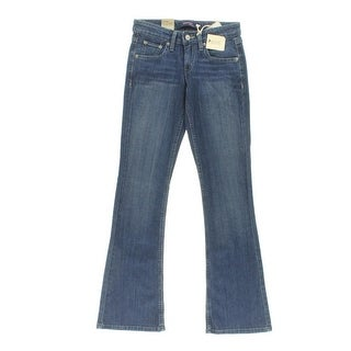 Levi's Womens Juniors Bootcut Jeans Stretch Whisker Wash