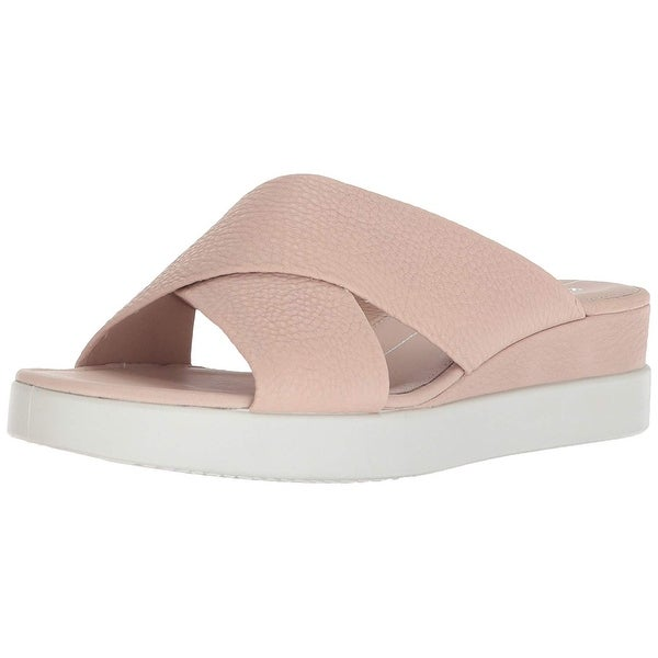 f90bf8e69378 Shop ECCO Womens Touch Leather Open Toe Casual Slide Sandals - Free ...
