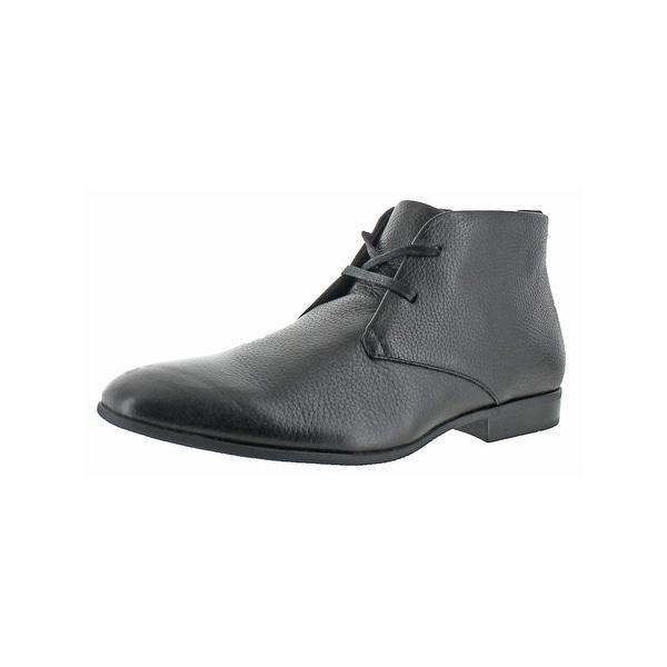 Calvin Klein Mens Carmichael Chukka Boots Textured Casual