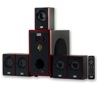 Acoustic Audio AA5103 Home Theater 5.1 Speaker System Surround Sound for Multimedia or Computer