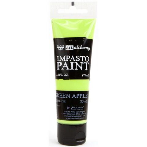 Finnabair Art Alchemy Impasto Paint 2.5 Fluid Ounces-Green Apple