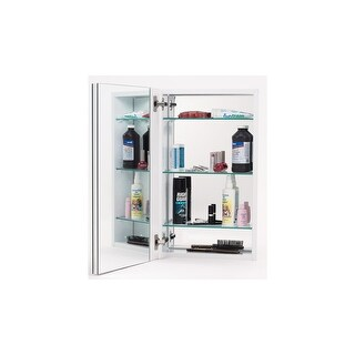 """Alno MC11244 1000 Series 15"""" x 25"""" Single Door Recessed Medicine Cabinet with White Interior with Plain Edged Mirror - N/A"""