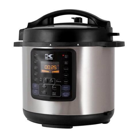 KALORIK 6 Quart 10-IN-1 Multi Use Pressure Cooker, Stainless Steel Refurbished