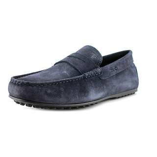 Tod's Morsetto Selleria City Gommino Youth Square Toe Suede Blue Loafer