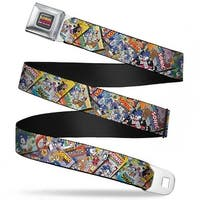 Sonic The Hedgehog Comic Collection Logo Full Color Sonic Comics Stacked Seatbelt Belt