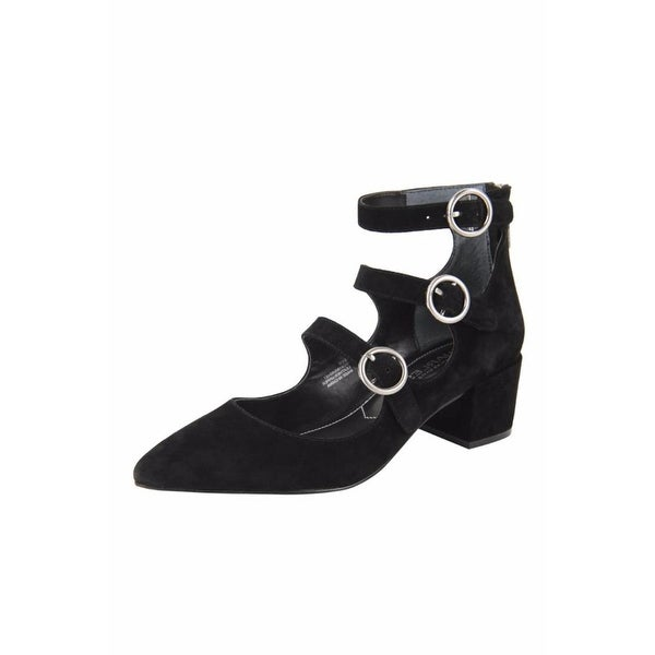 Charles by Charles David Womens wonder Leather Closed Toe T-Strap Classic Pumps - 8
