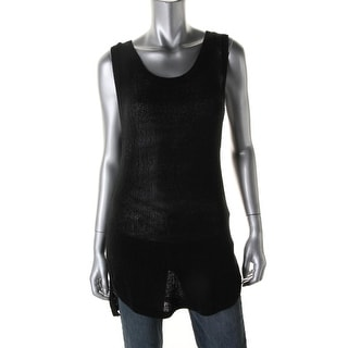 L Space Womens Knit Cut-Out Tunic Sweater - M
