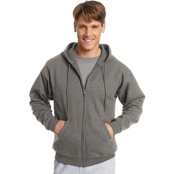 884ecae09 Hanes ComfortBlend® EcoSmart® Full Zip Hoodie - Color - Charcoal Heather -  Size - S