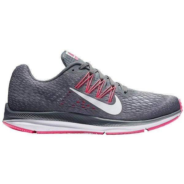 39b51c587145 Shop Nike Wmns Zoom Winflo 5 Running Shoes Dark Grey White Cool Grey ...