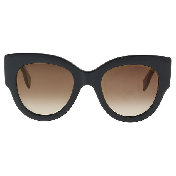 f135b17780f Shop Fendi FF0264S 0807 Black Cat Eye Sunglasses - 51-23-145 - Free ...