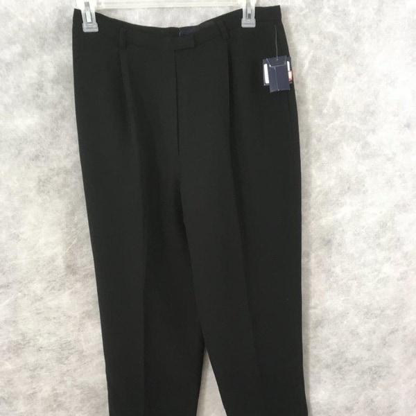 Shop Andrea Viccaro Petite Dress Pants Size 16p Black Womens Free