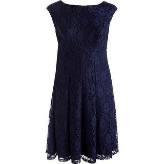 Lauren Ralph Lauren Womens Plus Party Dress Lace Boatneck