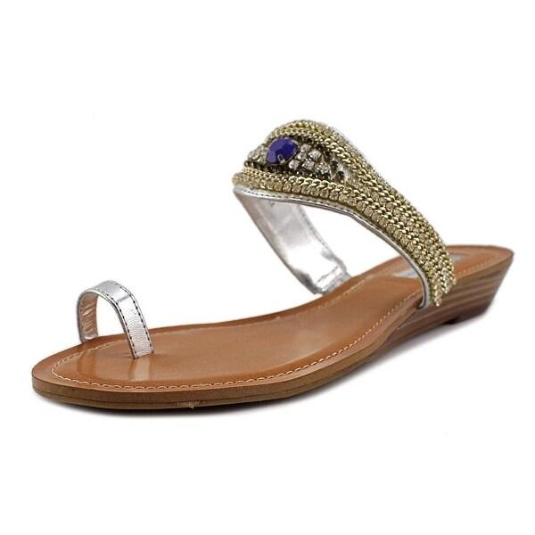 INC International Concepts Brae Women Pale Silver Sandals