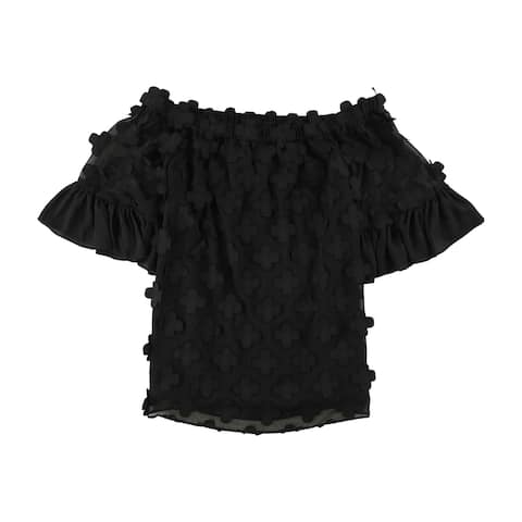Alfani Womens Off-The-Shoulder Knit Blouse