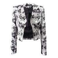 Nine West Women's Printed Round Collar Jacket - Black/Platinum