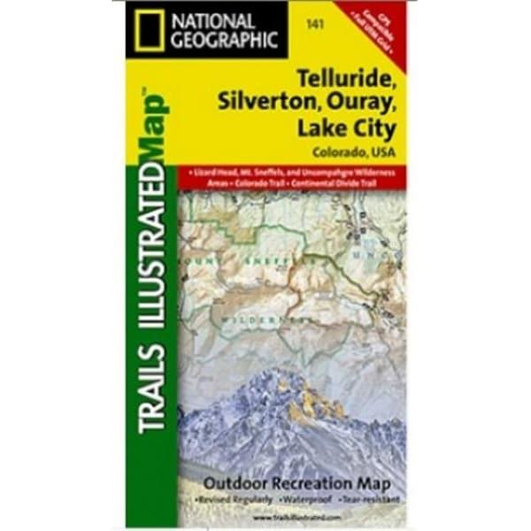 Shop Map Of Telluride Silverton Ouray Lake City Colorado Free