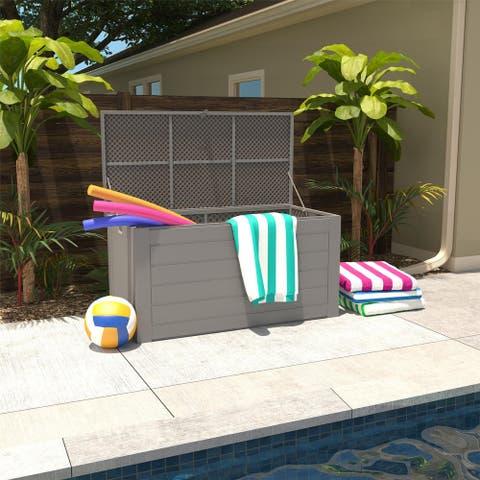 Cosco Outdoor Patio Deck Extra Large 180 Gallon Storage Box