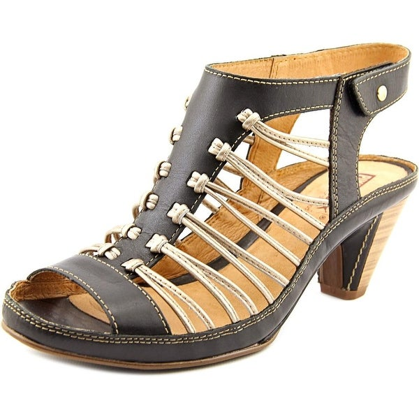 Pikolinos Java W5A-0728 Women Open Toe Leather Black Sandals