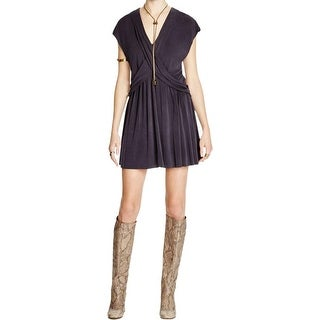Free People Womens Casual Dress Criss Cross V-Neck