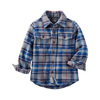 OshKosh B'gosh Little Boys' 2 Pocket Flannel Shirt, 5-Kids