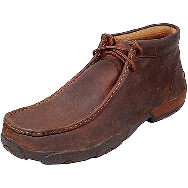 Twisted X Casual Shoes Mens Leather Driving Moccasin Copper